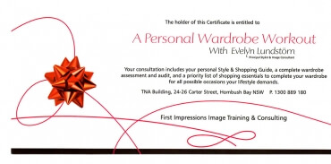 Personal Wardrobe Workout Gift Voucher